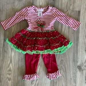 Bonnie Baby  Christmas  tunic tutu  & leggings